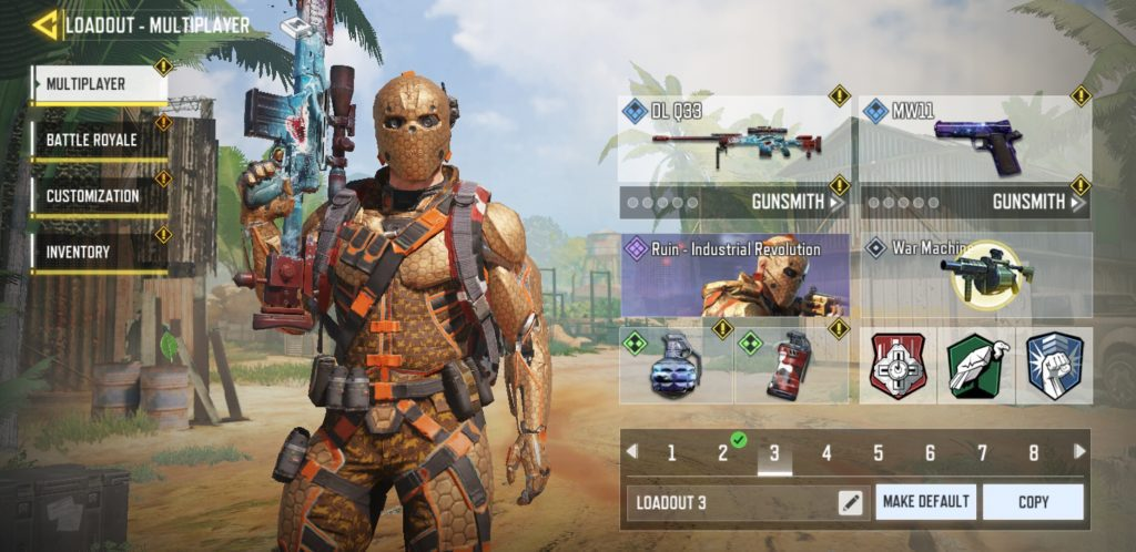 Pick Best Loadout for Matches